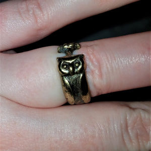 NWOT OWL Aged Gold RING